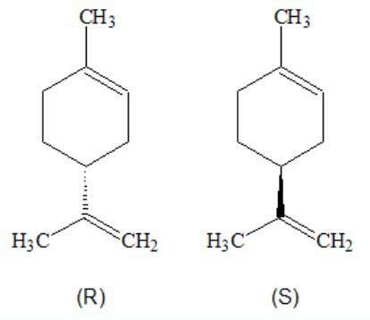 differe ntly in the presence of different enantiomers. Limonene enantiomers ha ve different smells. D-form Amino