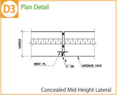 Plan Detail Concealed Mid-Height Lateral