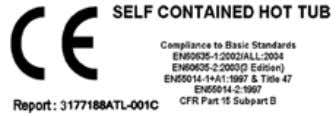 to CSA-C22.2 No. 218.1-M89 and ANSI/UL 1563 standards. Parts with extra low voltage not exceeding 12v