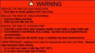 WARNING SIGN Warning Sign Must Be Posted – The red WARNING sign like the one shown