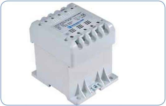 Single Phase Transformer Single phase Encapsulated DIN Transformer EPD Control, safety and isolating single-phase transform- ers