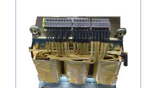 Three Phase Transformer General information Three phase isolating transformers dry type, with stand- ard rated power
