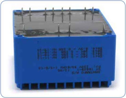 Encapsulated Low Profile PCB Transformer General information Encapsulated transformers are widely used in electronic applications where