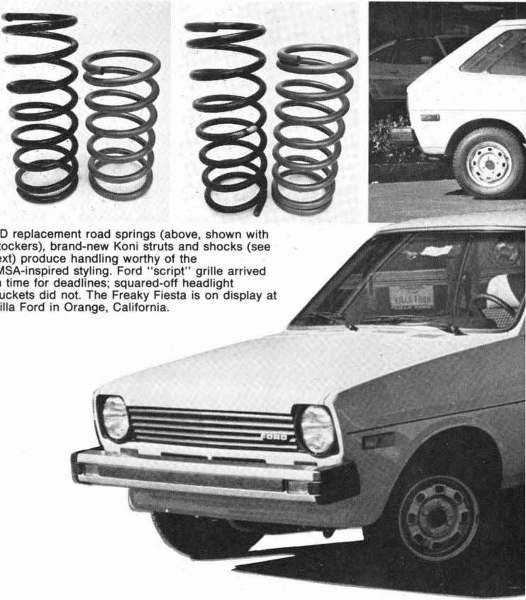 family is as broad overseas as the small-block Chevy is AD replacement road springs (above, shown