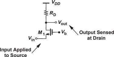 V DD R D V out M 1 V b Output Sensed V at Drain