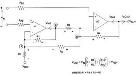 AMPLIFIER TOPOLOGY IN SINGLE-SUPPLY APPLICATIONS Figure 1.8 Using half-circuit concepts and the principle of