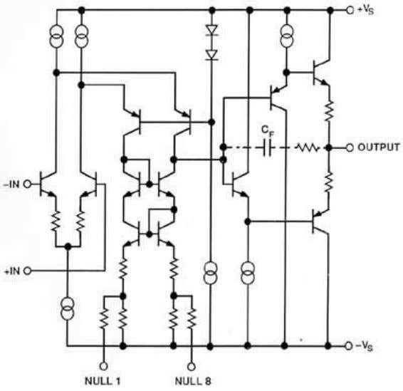 INTERNAL COMPENSATION FOR DRIVING CAPACITIVE LOADS Figure 2.6 The internal cap load compensated amplifier