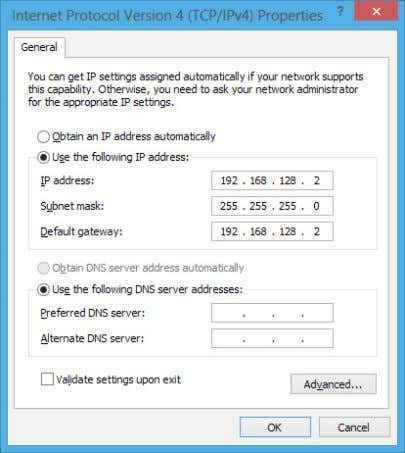 immettere l'indirizzo del server DNS preferito e alternativo e poi premere OK. 58 Notebook PC -