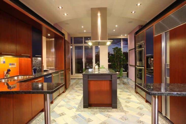 of this horizontal and vertical light in the kitchen design. Finally, consider maintenance also for any