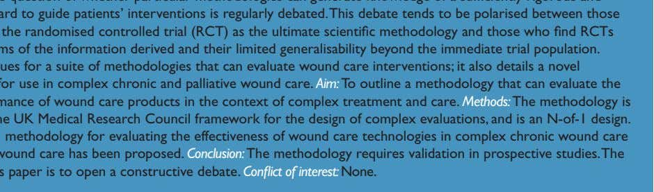 in prospective studies.The purpose of this paper is to open a constructive debate. Conflict of interest: