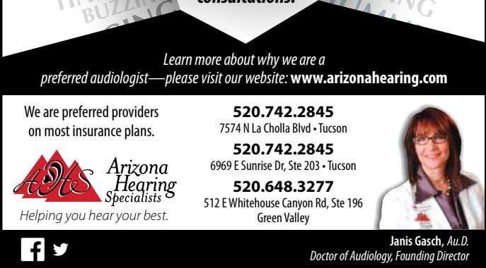 We are preferred providers on most insurance plans. 6969 E Sunrise Dr, Ste 203 •
