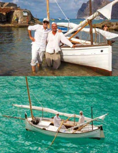 conducted in up to five boats and lasting five years. Top to bottom: Giacomo at the