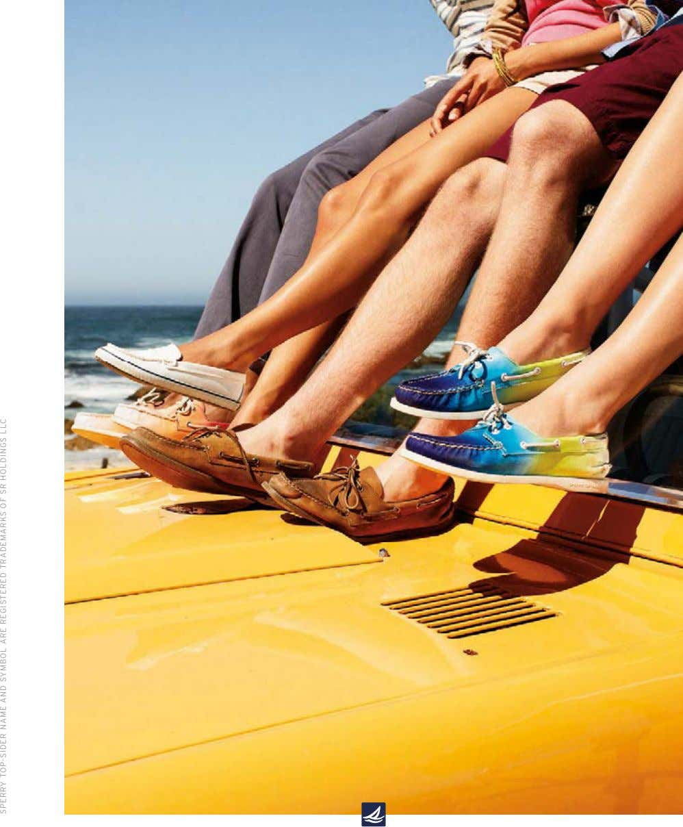 SPERRY TOP-SIDER NAME AND SYMBOL ARE REGISTERED TRADEMARKS OF SR HOLDINGS LLC
