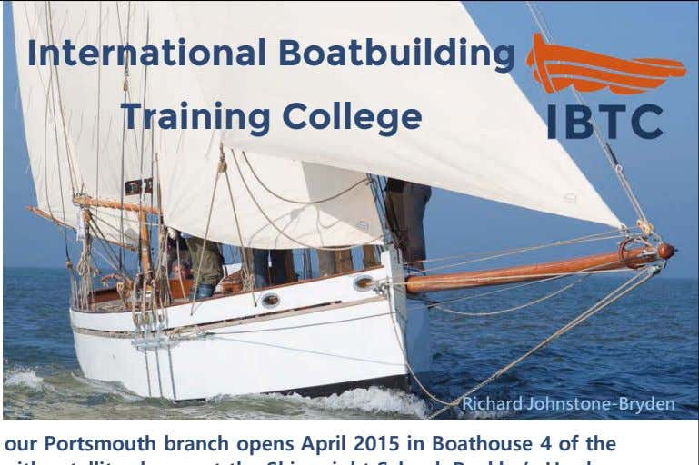 International Boatbuilding Training College Richard Johnstone-Bryden