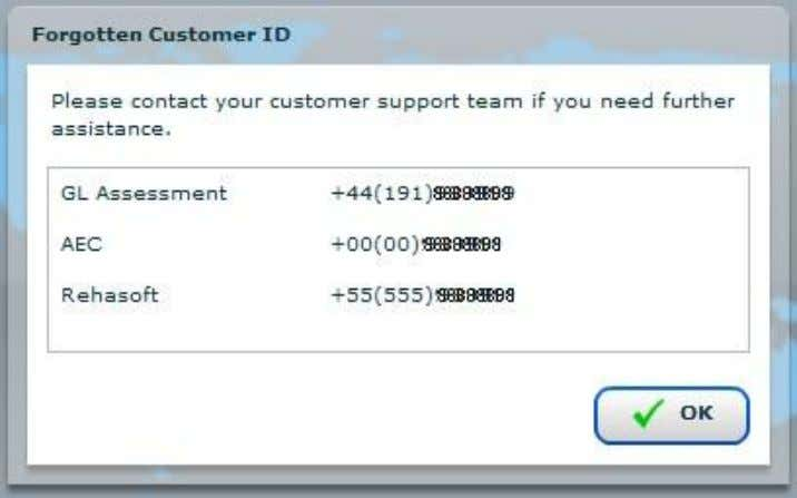 we cannot assist with determining exactly which support centre you require. 7 © 2011 GL Assessment.