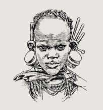 34–36, figure 'Atopos'; see Schlosser Kikuyu girl with ear ornaments Fig. 1 Native of New Guinea