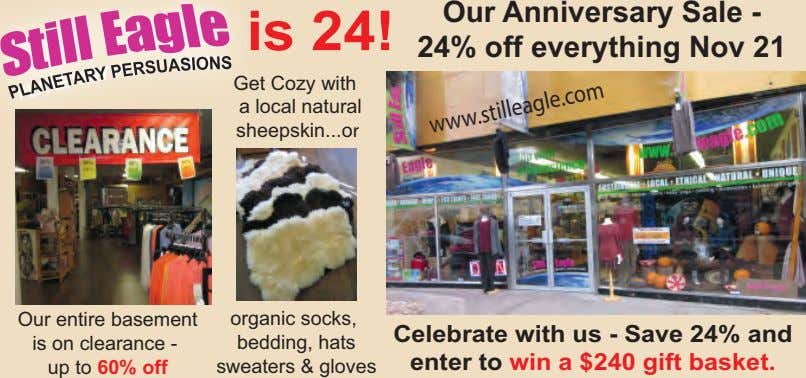 is 24! Our Anniversary Sale - 24% off everything Nov 21 Get Cozy with a