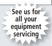 See us for all your equipment servicing