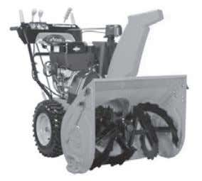"ft/lbs) Throws snow 50 ft (15.2 m) Housing: 28""w, 21"" h Deluxe 30 Model: 921032 Engine:"