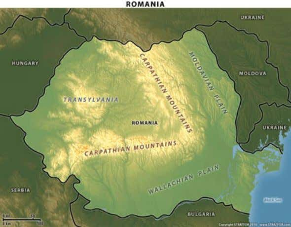 the Carpathians is Transylvania, more rugged, hilly country. And this is the geopolitical tragedy of Romania.