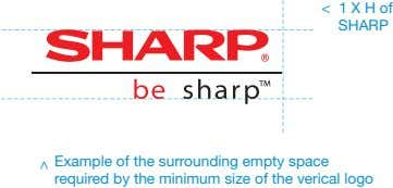 < 1 X H of SHARP Example of the surrounding empty space required by the minimum