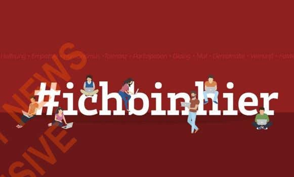 after Rose McGowan's Twitter account was disabled. E.g #ichbinhier #ichbinhier – which translates to I am