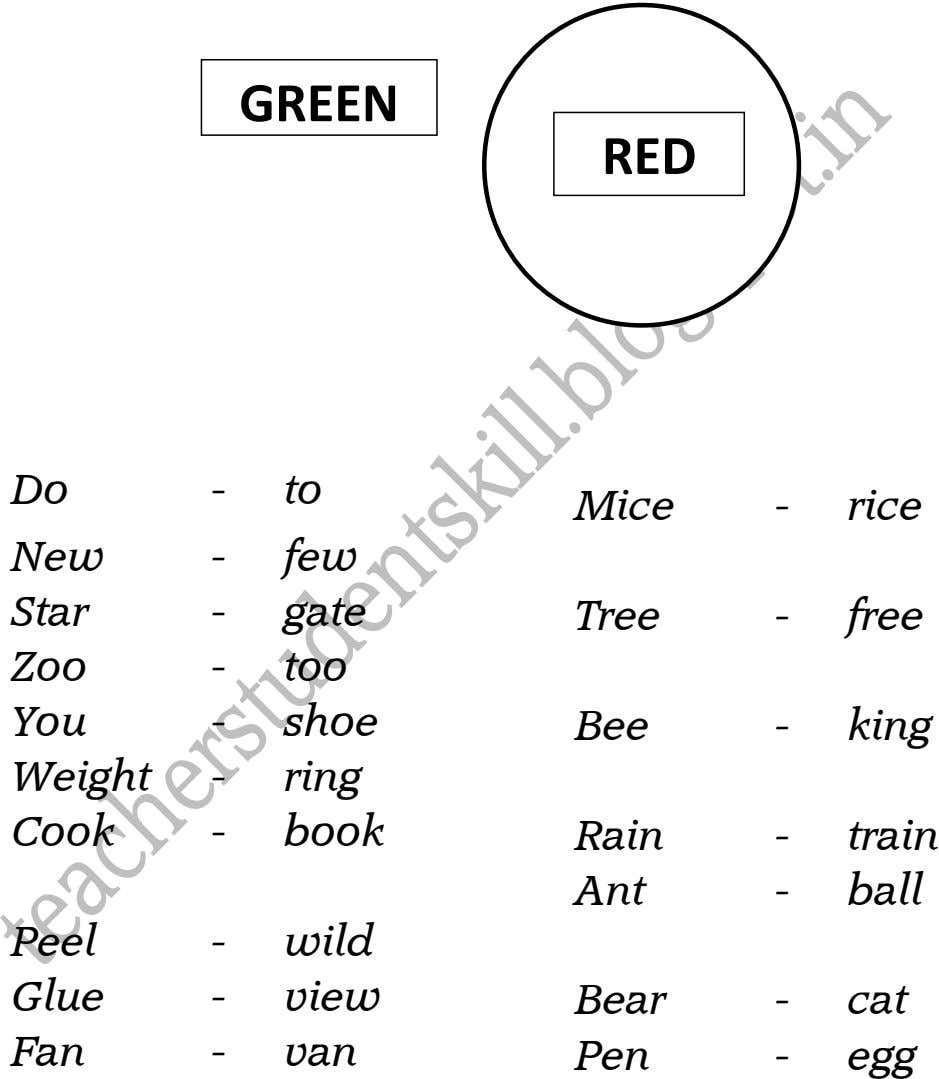 GREEN RED Do - to Mice - rice New - few Star - gate Tree