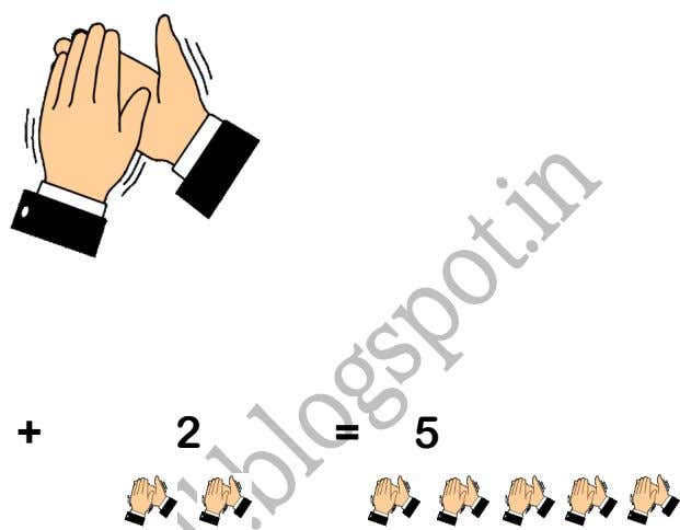 TSACDA Activity :- 7 Clap the Numbers ! 3 + 2 = 5 Subtraction: 5 -