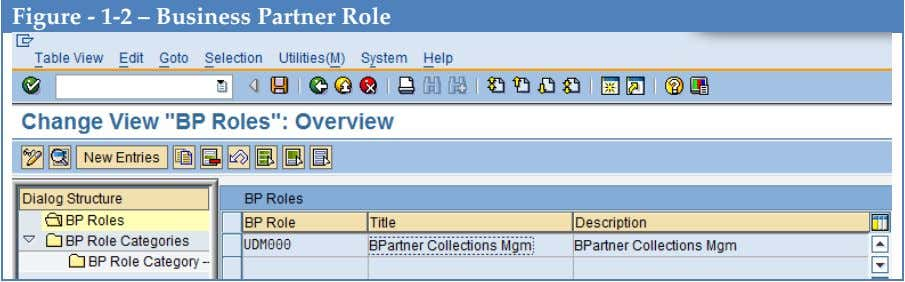Figure - 1-2 – Business Partner Role