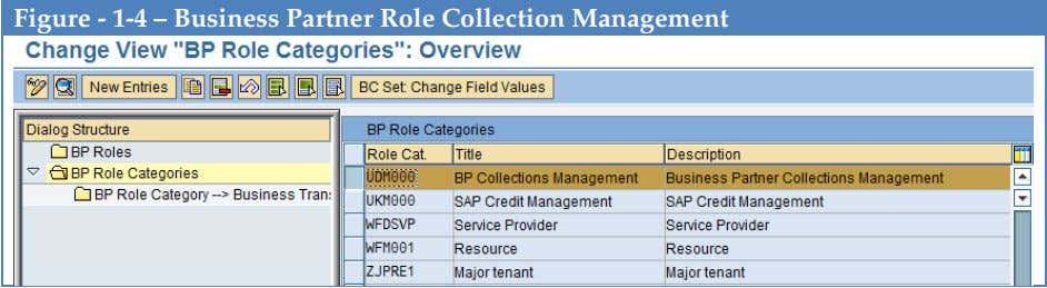 Figure - 1-4 – Business Partner Role Collection Management
