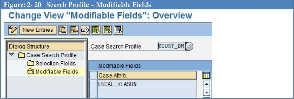 Figure: 2- 20: Search Profile – Modifiable Fields