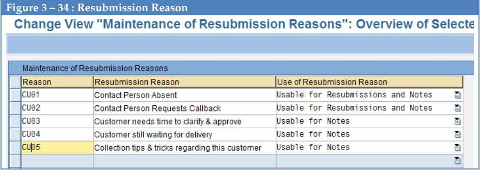 Figure 3 – 34 : Resubmission Reason