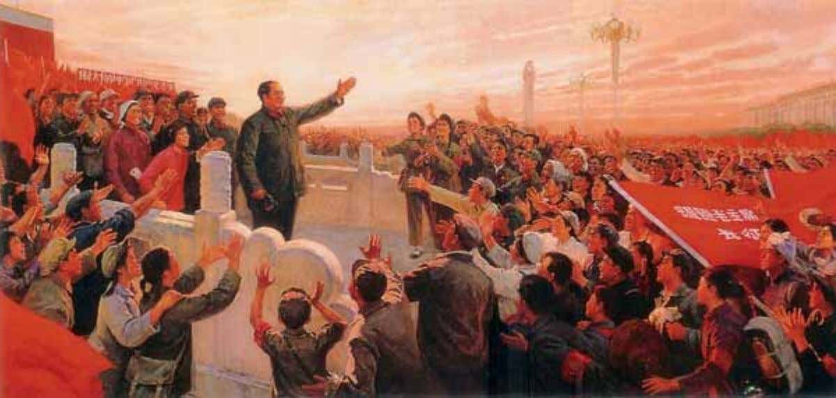 Figure 1.2 Chairman Mao's Heart Beats as One with the Hearts of the Revolutionary Masses