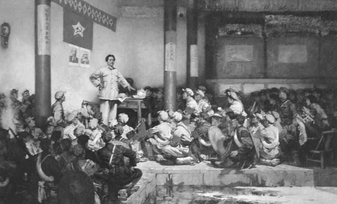 The Art of the Cultural Revolution Figure 1.9 He Kongde, Gutian Meeting (1972). Oil painting published