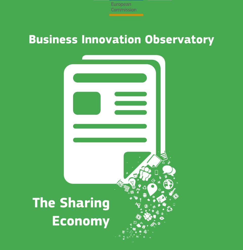 Business Innovation Observatory The Sharing Economy
