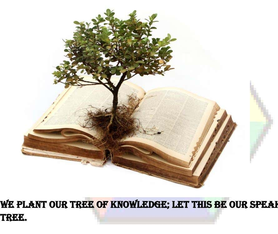 Jamnabai Narsee School-IBDP TOK COURSE COMPILATION_ SERIES_1 We PLANT OUR TREE OF KNOWLEDGE; LET THIS BE