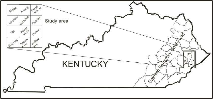 well Jenkins east D o rton Eastern Kentucky Coal Field Fig. 3.1. Location map of the