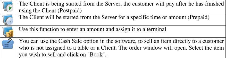 The Client is being started from the Server, the customer will pay after he has
