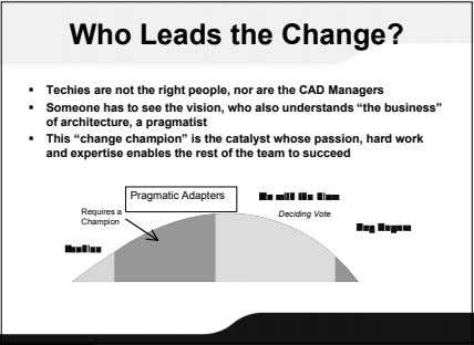 Who Leads the Change?  Techies are not the right people, nor are the CAD