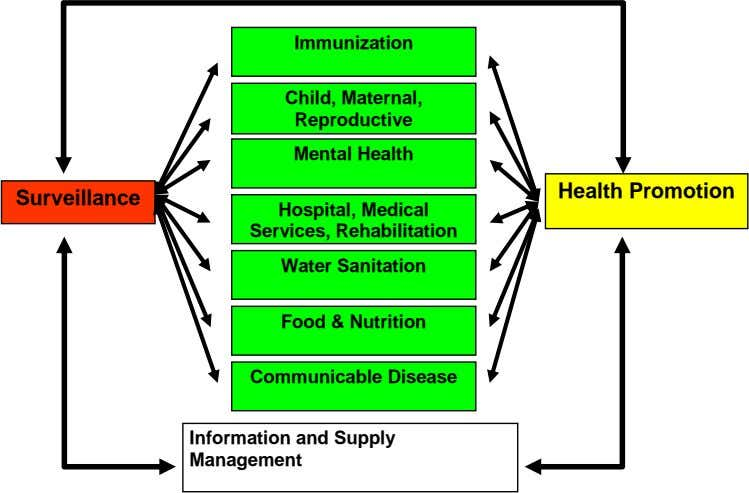 Immunization Child, Maternal, Reproductive Mental Health Health Promotion Surveillance Hospital, Medical Services,