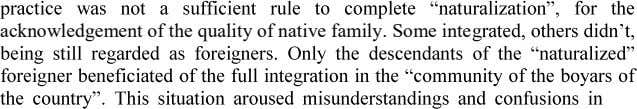 acknowledgement of the quality of native family. Some inte