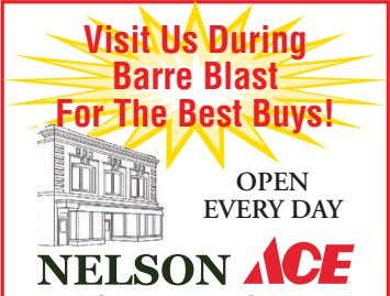 Visit Us During Barre Blast For The Best Buys! OPEN EVERY DAY