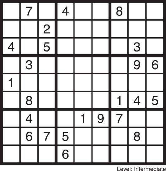 Store 250-353-2594 • Front St Kaslo Puzzle Page SUDOKU March 13 F IND B OTH P