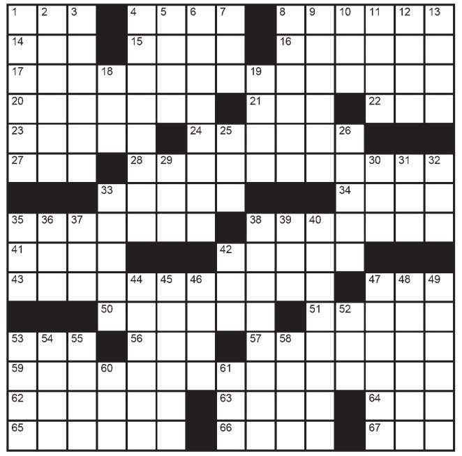 Crosswords For brand new puzzles by email, sign up at www.ClassiCanadianXwords.ca It's Elementary K Pennywise