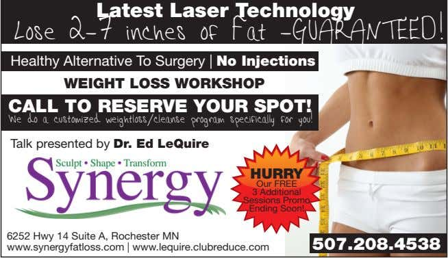 Latest Laser Technology Lose 2-7 inches of Fat -GUARANTEED! Healthy Alternative To Surgery | No