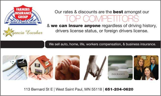 Our rates & discounts are the best amongst our TOP COMPETITORS & we can insure