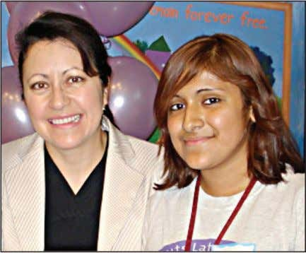 call 1-800-845-0787 or go online to GirlScoutsRV.org. Pictured above: girl Scout guadalupe gadea (right) and Sen.