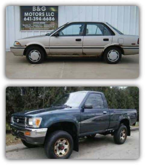 Pickups | Corollas | MORE Parts Available to Fix Damage Huge Discounts! RAV4's | Pickups |