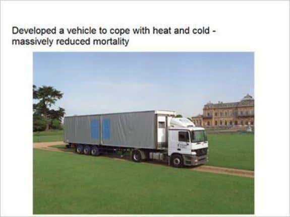 a vehicle to cope with heat and cold -massively reduced mortality Published by Articulate® Storyline www.articulate.com