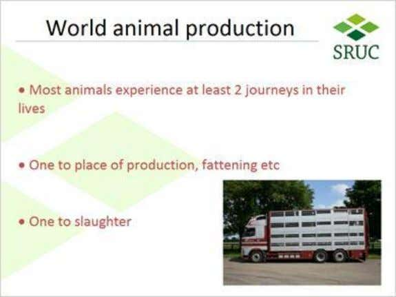 we discussed when I visited you last 1.6 World animal production Published by Articulate® Storyline www.articulate.com